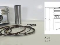 бутало комплект за китайски скутер GY6 125 cc 53.4mm
