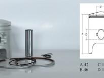 бутало комплект за сузуки AD-Sepia 50куб.43.00mm