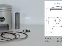 бутало комплект за сузуки Katana LC- 47.00mm