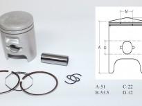 бутало комплект за хонда DIO AF 18-27-28 48.00мм-japon