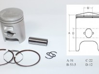 бутало комплект за хонда DIO AF 18-27-28 48.50мм