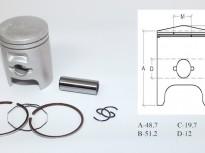 бутало комплект за хонда DIO AF 34-35 -40.50mm