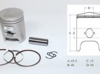 бутало комплект за хонда TACT -42.50mm