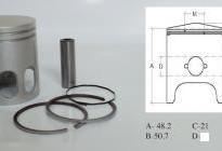бутало комплект за ямаха JOG 3KJ 2JA-48.00mm