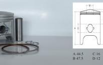 бутало комплект за Peugeot Speedfight 50куб. LC 47.00mm