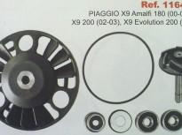 PIAGGIO X9 180cc, X9 200cc (02-03) X9 EVOLUTION 200cc (03)